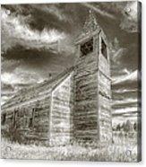 Abandoned Church Flora Oregon Acrylic Print