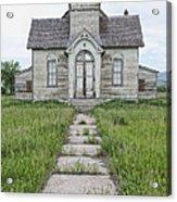Abandoned Countryside Church Acrylic Print