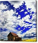 Abandoned Farmhouse In A Canola Field Acrylic Print