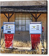 Abandoned Gas Pumps And Station Acrylic Print