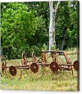 Abandoned Hay Rake 2 Acrylic Print