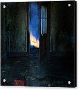 Abandoned House On Fire Acrylic Print