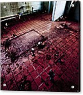 Abandoned Locker Room Acrylic Print by Christopher Kulfan