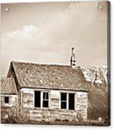 Abandoned Montana Shcoolhouse Acrylic Print