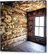 Abandoned Smoky Mountains Farm House - The Window Acrylic Print