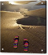 Abandoned Thongs Acrylic Print by Avalon Fine Art Photography