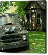Abandoned Truck At Post Office Acrylic Print