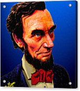 Abe Lincoln Blue Acrylic Print