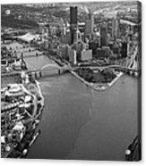 Above Pittsburgh  Acrylic Print by Emmanuel Panagiotakis