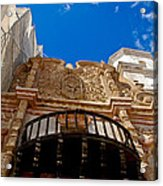 Above The Front Entry San Xavier Mission Acrylic Print