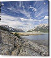 Abraham Lake Created By Bighorn Dam Acrylic Print
