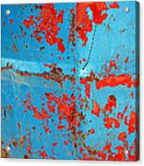 Abstrac Texture Of The Paint Peeling Iron Drum Acrylic Print