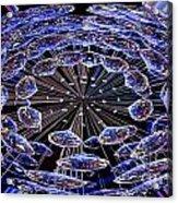 Abstract - Blue Diamonds Acrylic Print