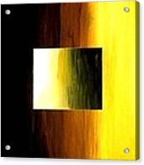 Abstract 3d Golden Square Acrylic Print