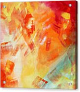 Abstract Art Colorful Bright Pastels Original Painting Spring Is Here I By Madart Acrylic Print