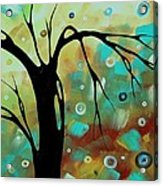 Abstract Art Original Landscape Painting Colorful Circles Morning Blues IIi By Madart Acrylic Print