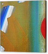 Abstract Blue With Red Sun Acrylic Print