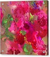 Abstract Bougainvillea Painting Floral Wall Art Acrylic Print