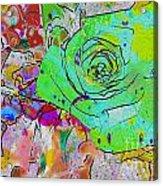Abstract Childlike Rose Acrylic Print