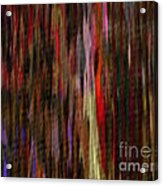 Abstract Faces In Crowd Acrylic Print