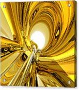 Abstract Gold Rings Acrylic Print
