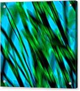 Abstract Green Grass Acrylic Print