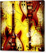 Abstract Grunge Guitars Acrylic Print