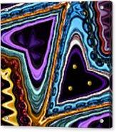 Abstract Hearts Acrylic Print