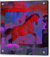 Abstract Horse Acrylic Print