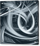 Abstract In Black And White Acrylic Print