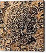 Abstract In Brown Acrylic Print