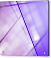 Abstract Intersecting Lines On A Glass Surface Acrylic Print