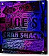 Abstract Joe's Crabshack Sign Acrylic Print