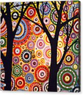 Abstract Modern Tree Landscape Distant Worlds By Amy Giacomelli Acrylic Print