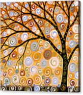 Abstract Modern Tree Landscape Dreams Of Gold By Amy Giacomelli Acrylic Print
