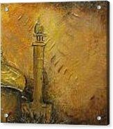 Abstract Mosque Acrylic Print by Salwa  Najm