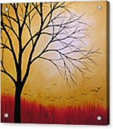 Abstract Original Tree Painting Summers Anticipation By Amy Giacomelli Acrylic Print