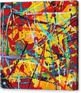 Abstract Pizza 1 Acrylic Print