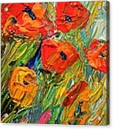 Abstract Poppies Acrylic Print