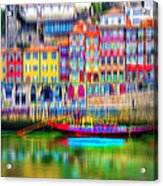 abstract Portuguese city Porto-3 Acrylic Print