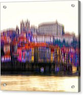 abstract Portuguese city Porto-8 Acrylic Print