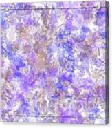 Abstract Purple Splatters Acrylic Print