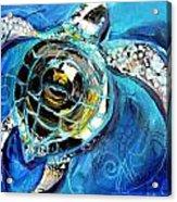 Abstract Sea Turtle In C Minor Acrylic Print