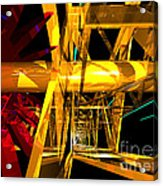 Abstract Tan 12 Imaginary Engine Acrylic Print