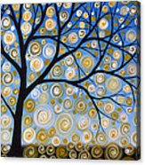 Abstract Tree Nature Original Painting Starry Starry By Amy Giacomelli Acrylic Print