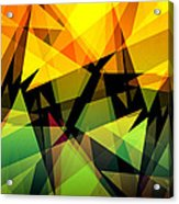Abstract Triangle Colorful Background Acrylic Print
