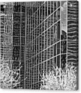 Abstract Walls Black And White Acrylic Print