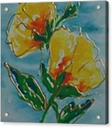 Abstract Yellow Flower No3 Acrylic Print