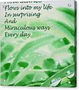 Abundance Affirmation Acrylic Print