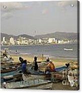 Acapulco Fishermen Acrylic Print